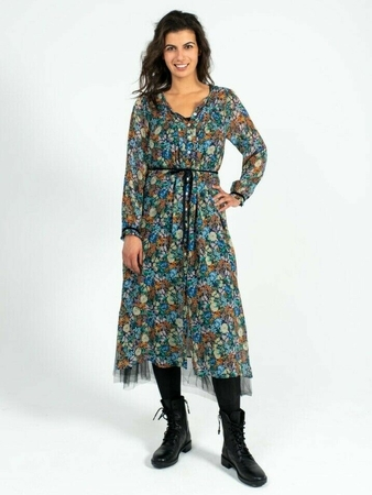 Платье со сквозной застежкой вид спереди