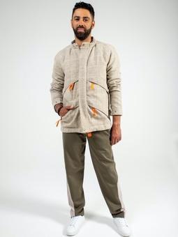 Мужская куртка с рукавами реглан