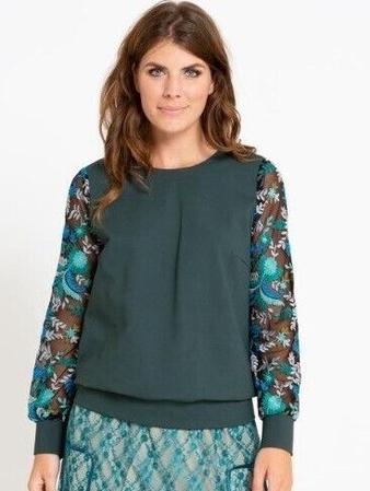 Блузка в спортивном стиле вид спереди крупным планом