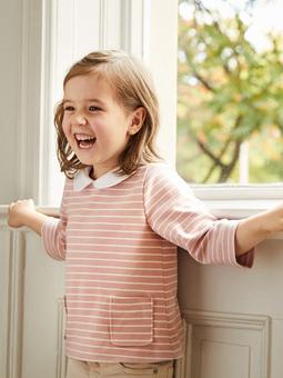 Пуловер-блузка для девочки