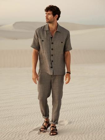 Выкройка мужских льняных брюк купить ткань в иваново розница