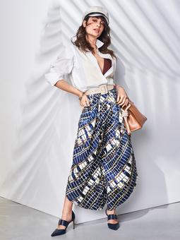 Юбка-брюки со складками у пояса