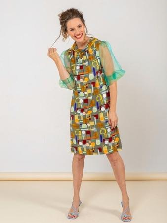 Платье с рукавами из органзы вид спереди