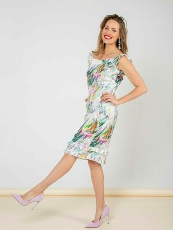 Платье-сарафан с оборками