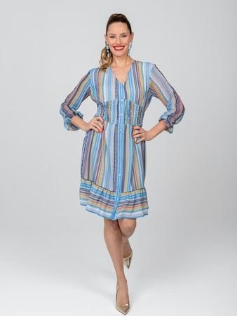 Платье со вставкой на талии