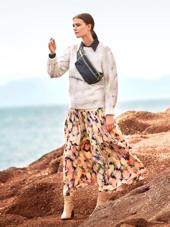 Модель многоярусной юбки
