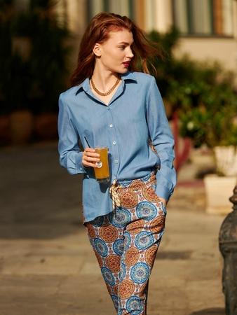 Модель блузки-рубашки