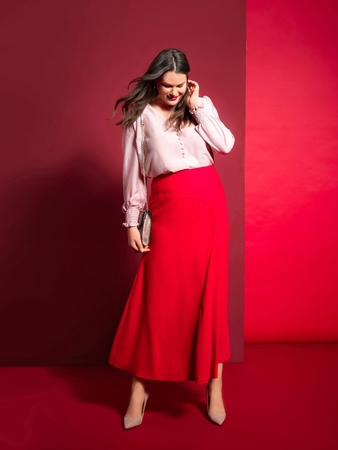 Модель юбки миди