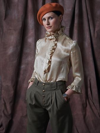 Модель блузки с оборками