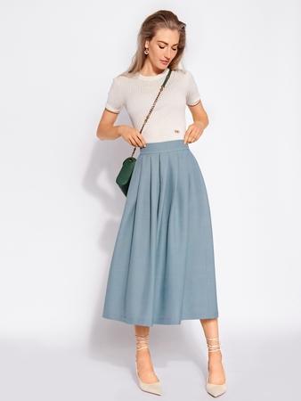 Модель юбки миди со складками