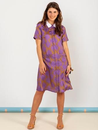 Платье со съемным воротничком