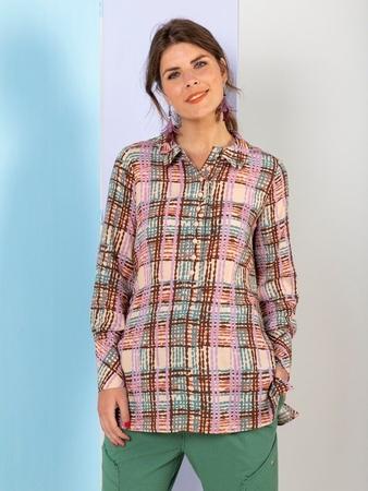 Блузка со съемным воротником