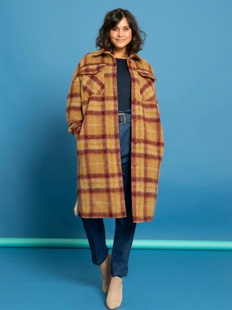 Пальто-рубашка вид спереди