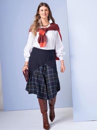 Модель юбки с клиньями годе