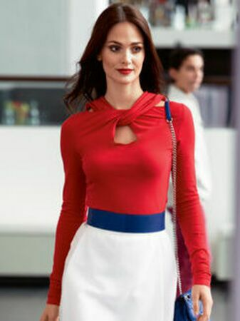 Пуловер приталенного силуэта