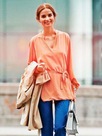 Блуза с эффектом запаха
