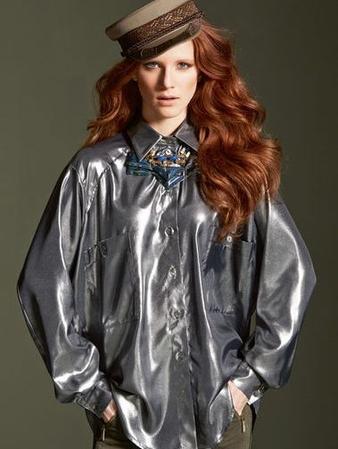 Блуза мужского фасона