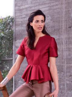 Блузка с баской разной длины