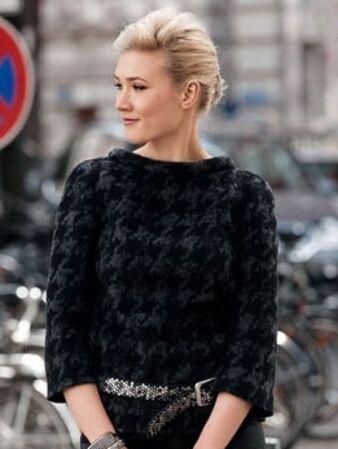 Пуловер с укороченными рукавами