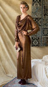 Платье с рукавами «летучая мышь»