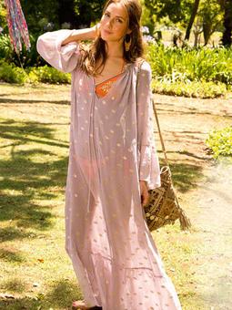 Пляжное платье с рукавами реглан