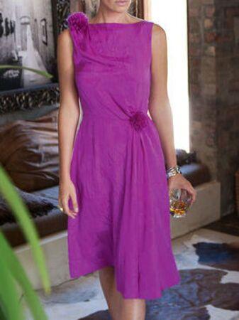 Платье с отрезной юбкой