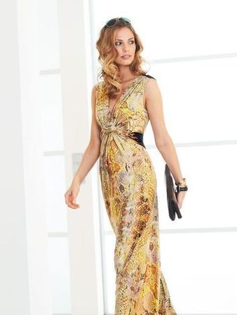 Платье с переплетающимися завязками