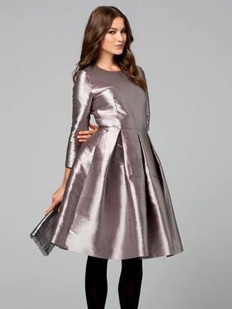 Платье с бантовыми складками