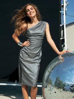 Платье асимметричного силуэта
