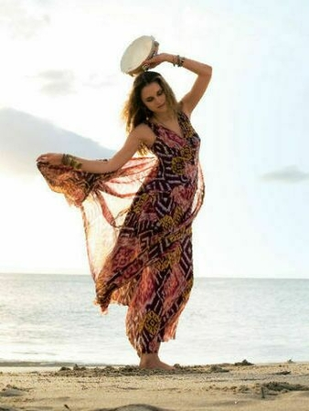 Платье с многослойными драпировками