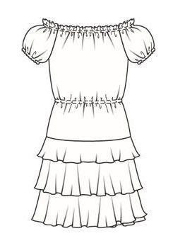 Платье в стиле кармен