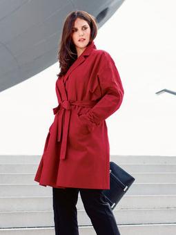 Пальто с приспущенными плечами