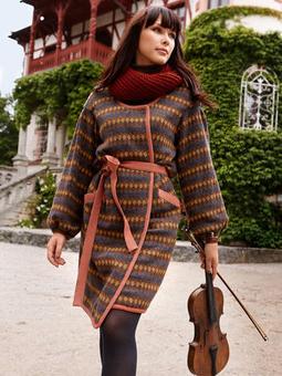 Пальто с объемными рукавами
