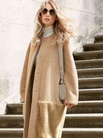 Пальто с цельнокроеными рукавами