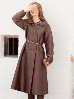 Пальто с рукавами реглан-погон