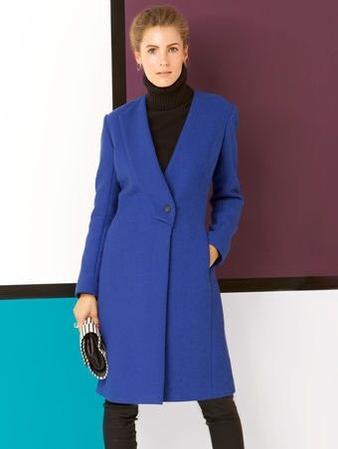 Пальто с односторонним лацканом