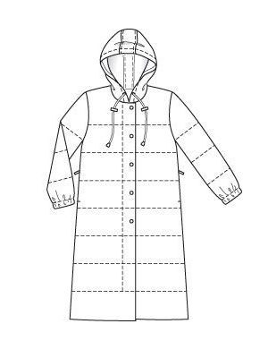 Стёганое пальто с капюшоном