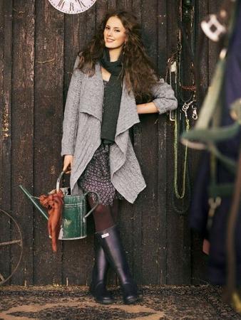 Жакет из вязаного полотна