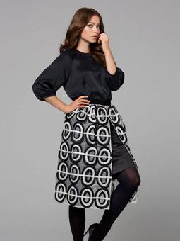 Юбка с чехлом, имитирующим вторую юбку