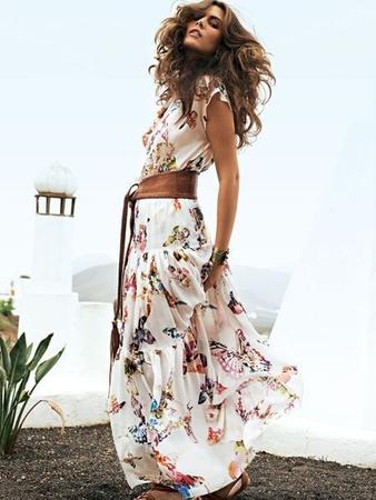 Многоярусная юбка