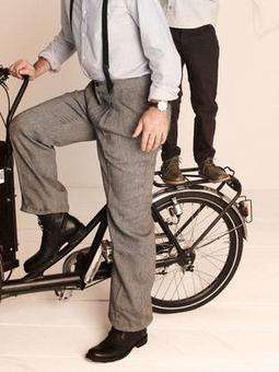 Мужские брюки со складками