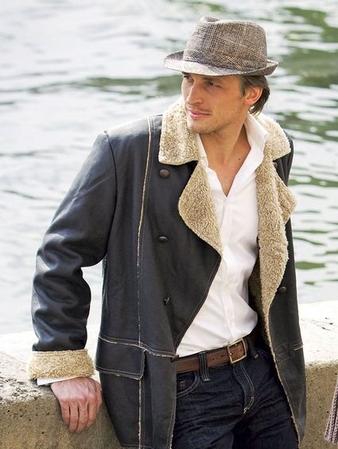 Мужская куртка-дубленка