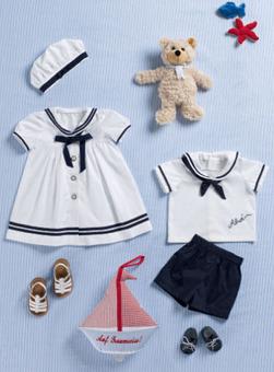 Платье с матросским воротником для девочки