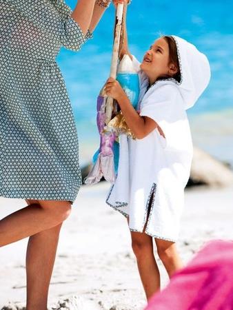 Детское пляжное пончо
