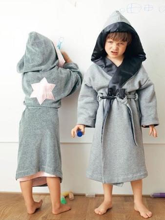 Купальные халаты для девочек и для мальчиков