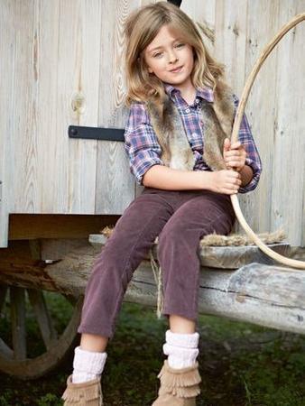 Зауженные брюки для девочки