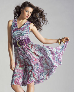 Платье с защипами