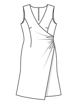 90e5c5ee5db Платье с эффектом запаха - выкройка № 106 из журнала 9 2015 Burda ...