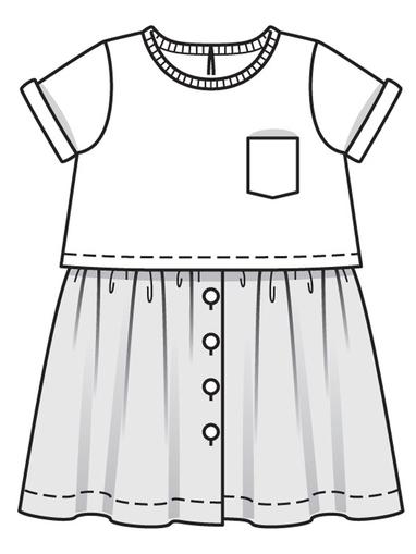 Платье с пышной юбкой для девочки