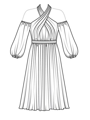Платье с рукавами-баллон